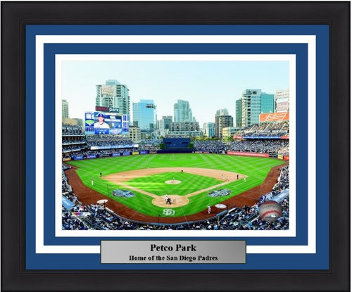"San Diego Padres Petco Park Stadium MLB Baseball 8"" x 10"" Framed and Matted Photo"