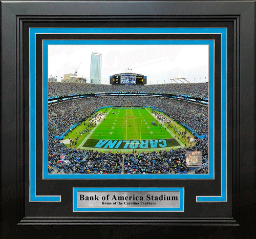 "Carolina Panthers Bank of America Stadium NFL Football 8"" x 10"" Framed and Matted Photo - Dynasty Sports & Framing"