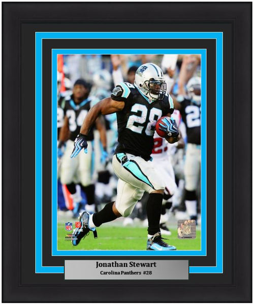 "Jonathan Stewart Carolina Panthers NFL Football 8"" x 10"" Framed and Matted Photo - Dynasty Sports & Framing"