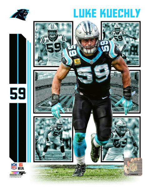 LUKE KUECHLY CAROLINA PANTHERS 8X10 SPORTS ACTION PHOTO V