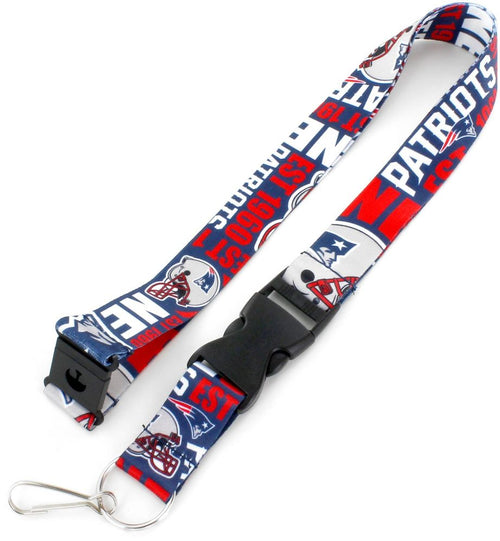 New England Patriots NFL Football Dynamic Lanyard - Dynasty Sports & Framing