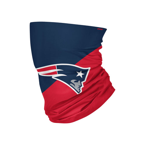 New England Patriots Colorblock Big Logo Gaiter Scarf - Dynasty Sports & Framing
