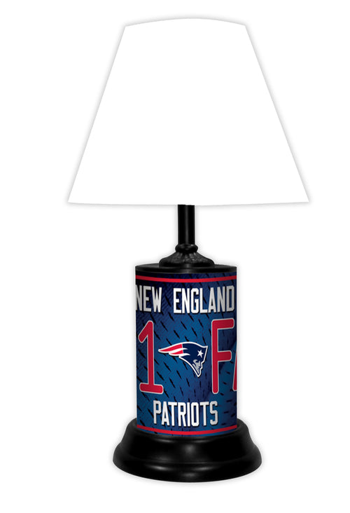 New England Patriots NFL Football #1 Fan Lamp - Dynasty Sports & Framing
