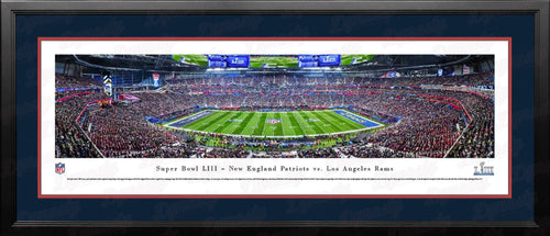New England Patriots Super Bowl LIII Blakeway Framed Football Stadium Panorama - Dynasty Sports & Framing