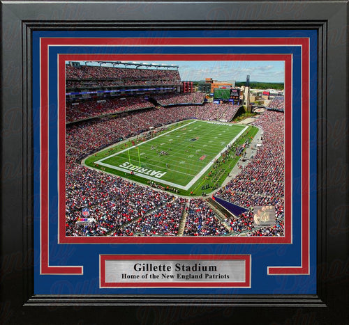 "New England Patriots Gillette Stadium NFL Football 8"" x 10"" Framed and Matted Photo - Dynasty Sports & Framing"