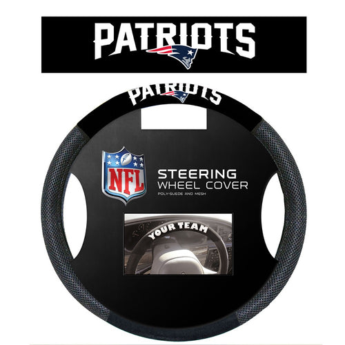 New England Patriots NFL Football Steering Wheel Cover - Dynasty Sports & Framing