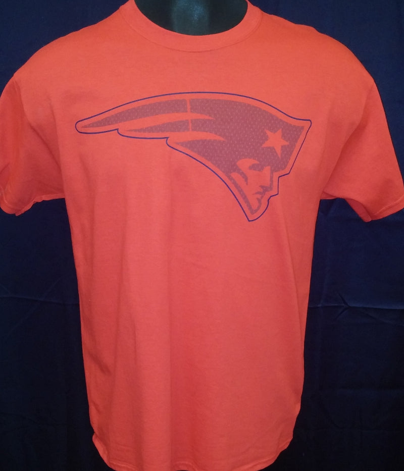 New England Patriots Majestic Big Logo T-Shirt (Red) - Dynasty Sports & Framing