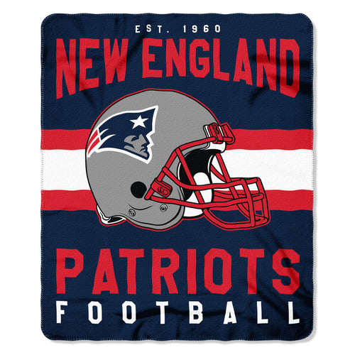 "New England Patriots NFL Football 50"" x 60"" Singular Fleece Blanket"
