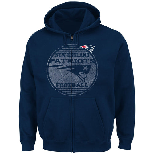 New England Patriots Defeat Proof Full-Zip Hoodie - Dynasty Sports & Framing