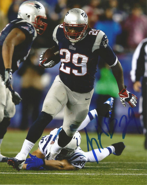 "LeGarrette Blount v. Colts New England Patriots Autographed NFL Football 8"" x 10"" Photo"