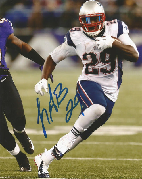 "LeGarrette Blount v. Ravens New England Patriots Autographed NFL Football 8"" x 10"" Photo"