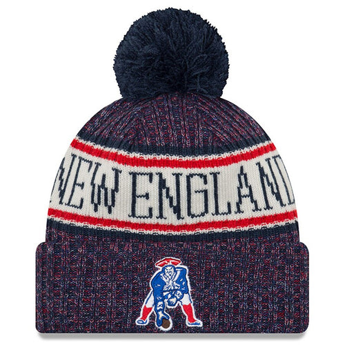 New England Patriots New Era Sideline Official Sport Throwback Knit Hat - Dynasty Sports & Framing