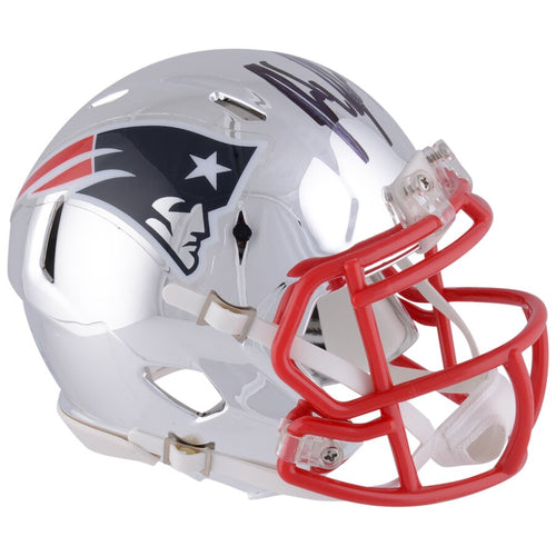 Rob Gronkowski New England Patriots Autographed NFL Football Speed Chrome Mini-Helmet