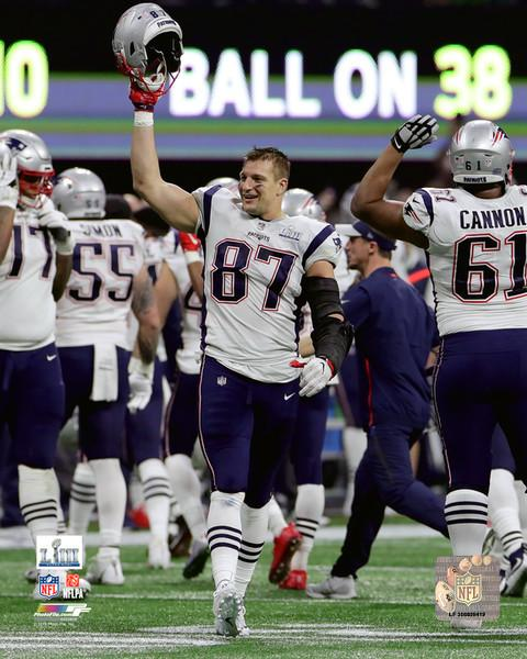 "New England Patriots Rob Gronkowski Super Bowl LIII NFL Football 8"" x 10"" Final Game Photo"
