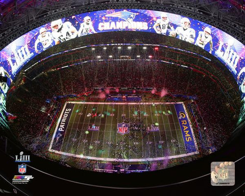 "New England Patriots Super Bowl LIII Champions Mercedes-Benz Stadium NFL Football 8"" x 10"" Celebration Photo"