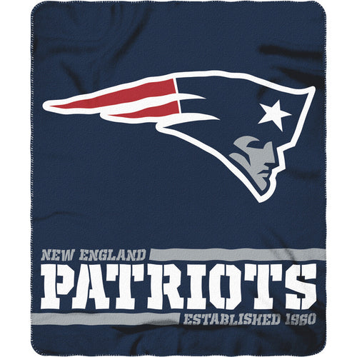 "New England Patriots NFL Football 50"" x 60"" Split Wide Fleece Blanket - Dynasty Sports & Framing"
