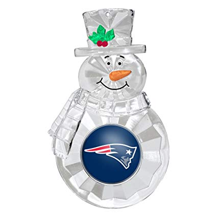 New England Patriots Snowman Holiday Ornament
