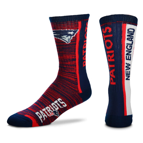 New England Patriots NFL Football Bar Stripe Vertical Socks