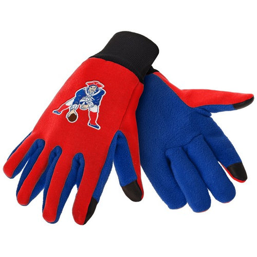 New England Patriots Throwback NFL Football Texting Gloves - Dynasty Sports & Framing