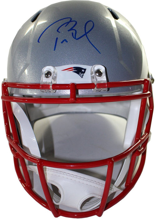 Tom Brady New England Patriots Autographed NFL Football Full-Size Speed Replica Helmet