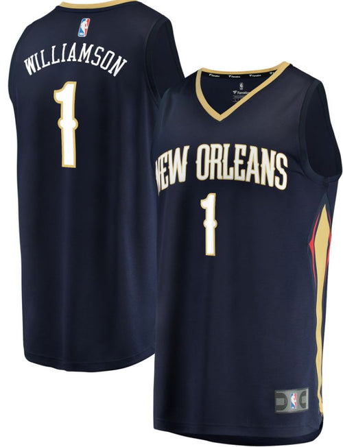 Zion Williamson New Orleans Pelicans First Round Pick Fast Break Replica Jersey Navy - Icon Edition - Dynasty Sports & Framing