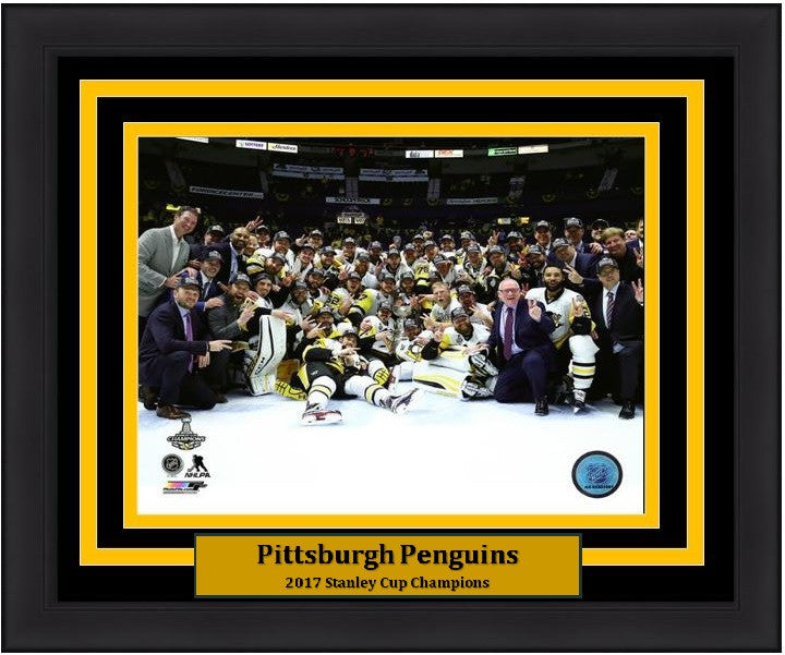 "Pittsburgh Penguins 2017 Stanley Cup On-Ice Celebration 8"" x 10"" Framed and Matted Photo - Dynasty Sports & Framing"