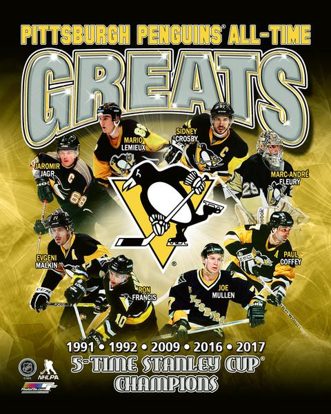"Pittsburgh Penguins All-Time Greats NHL Hockey 8"" x 10"" Photo"