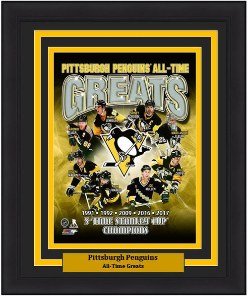 "Pittsburgh Penguins All-Time Greats NHL Hockey 8"" x 10"" Framed and Matted Photo"