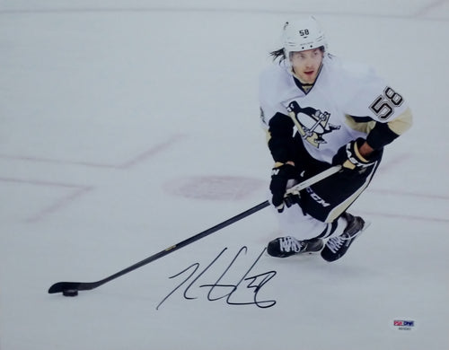 "Pittsburgh Penguins Kris Letang Autographed NHL Hockey 11"" x 14"" Photo"