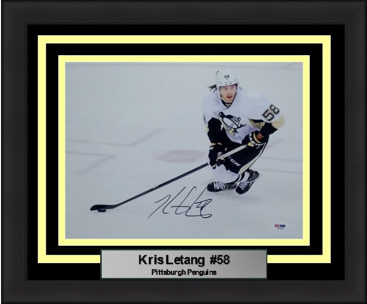 "Pittsburgh Penguins Kris Letang Autographed 11"" x 14"" Framed and Matted Photo - Dynasty Sports & Framing"