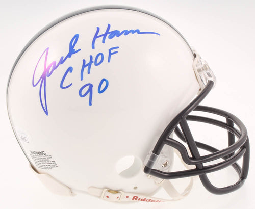 Jack Ham Penn State Nittany Lions Autographed Mini-Helmet with College Hall of Fame Inscription - Dynasty Sports & Framing