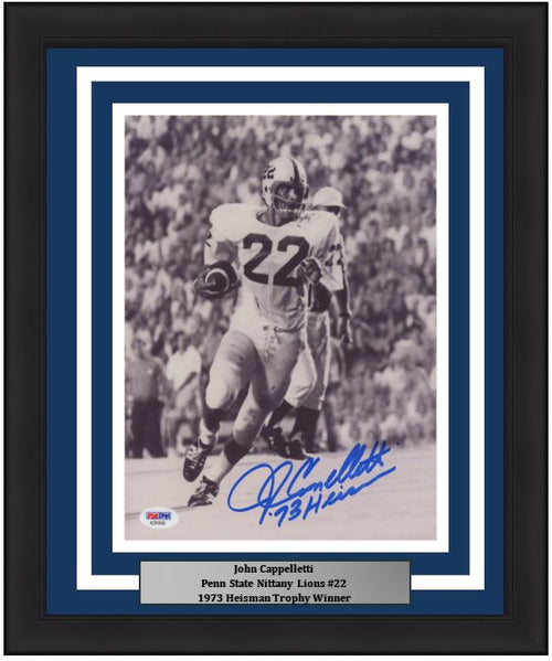 John Cappelletti in Action Penn State Nittany Lions Autographed 8x10 Framed College Football Photo - Dynasty Sports & Framing