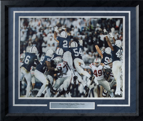Penn State Nittany Lions Blocked Field Goal v. Ohio State College Football Framed and Matted Photo - Dynasty Sports & Framing