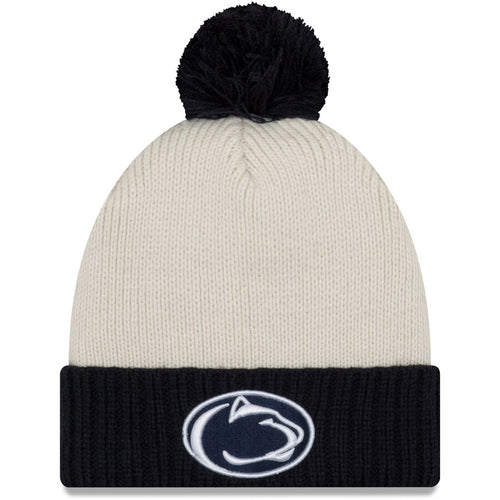 Penn State Nittany Lions Color Chill Cuffed Knit Hat with Pom - Dynasty Sports & Framing