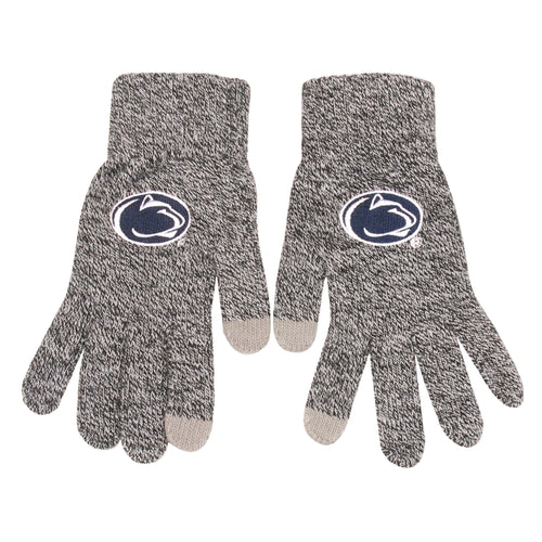 Penn State Nittany Lions Gray Knit Texting Gloves - Dynasty Sports & Framing
