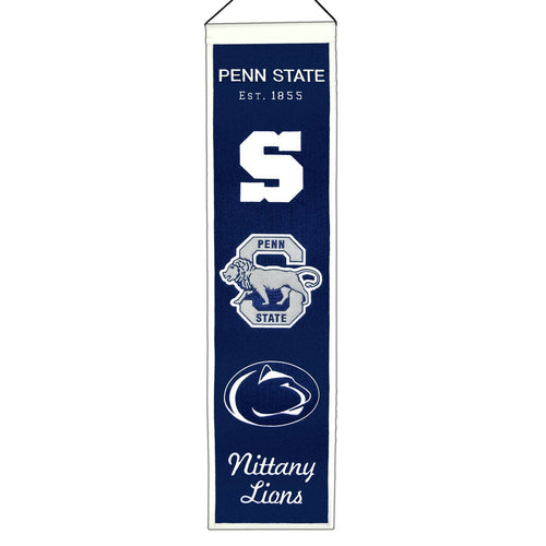 Penn State Nittany Lions NCAA Heritage Banner - Dynasty Sports & Framing