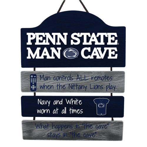 Penn State Nittany Lions NCAA College Wooden Man Cave Sign - Dynasty Sports & Framing