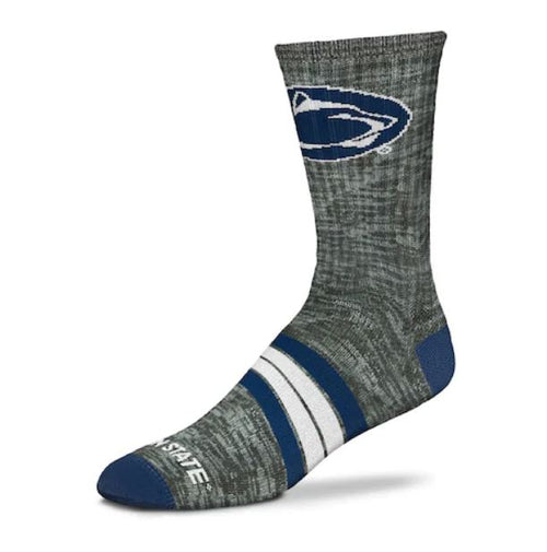 Penn State Nittany Lions Men's For Bare Feet Quad Crew Socks - Dynasty Sports & Framing