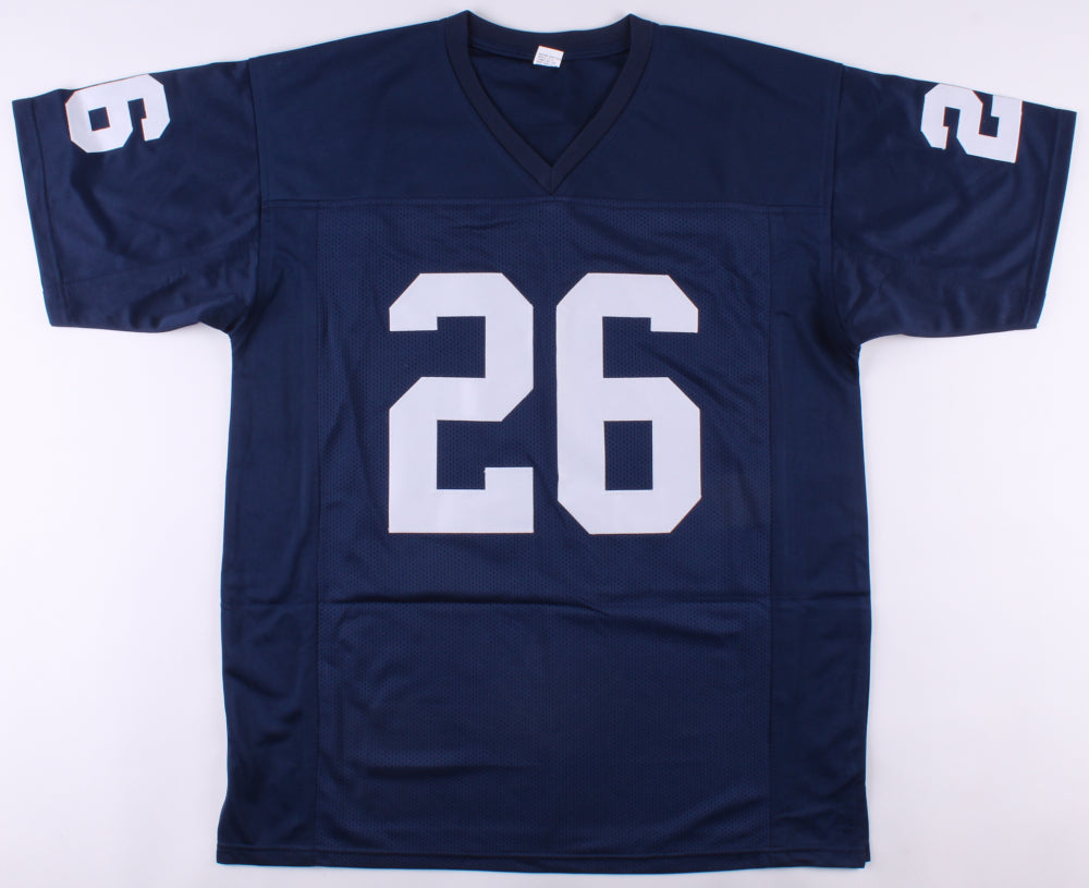 detailed look 865fa 8ea45 Saquon Barkley Penn State Nittany Lions Autographed Football Jersey