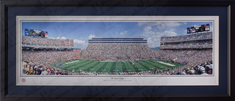 Penn State Nittany Lions Beaver Stadium NCAA College Football Rob Arra Framed and Matted Stadium Panorama