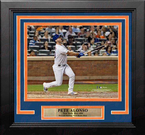"Pete Alonso Record-Breaking Home Run New York Mets 8"" x 10"" Framed Baseball Photo - Dynasty Sports & Framing"