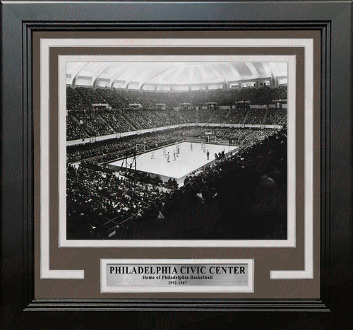 "Philadelphia Convention Hall and Civic Center 8"" x 10"" Framed Basketball Stadium Photo"
