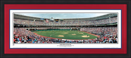Philadelphia Phillies Veterans Stadium Final Pitch MLB Baseball Rob Arra Framed Stadium Panorama - Dynasty Sports & Framing