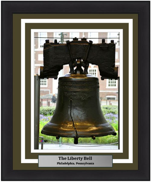 "The Liberty Bell in Philadelphia 8"" x 10"" Framed and Matted Landmark Photo - Dynasty Sports & Framing"