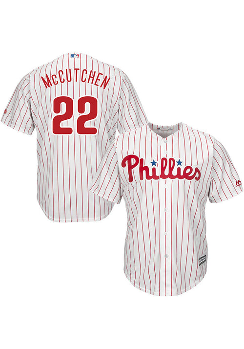 Andrew McCutchen Philadelphia Phillies Mens Replica Home Jersey - White - Dynasty Sports & Framing