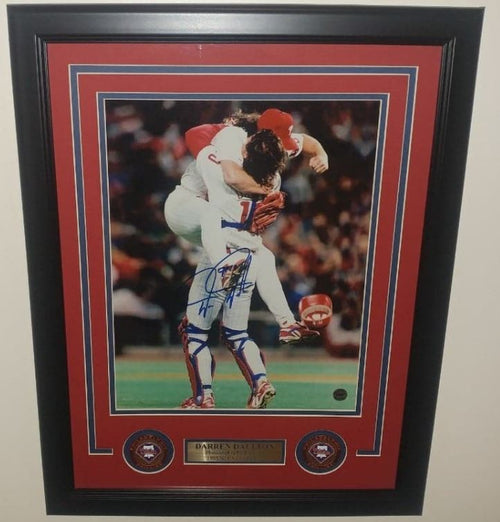 "Darren Daulton NLCS Champions Celebration Philadelphia Phillies Autographed 11"" x 14"" Framed Photo - Dynasty Sports & Framing"