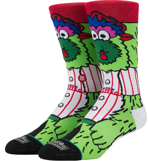 Phanatic Stance Philadelphia Phillies Mascot Crew Socks - Dynasty Sports & Framing