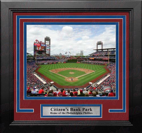 "Philadelphia Phillies Citizen's Bank Park MLB Baseball 8"" x 10"" Framed and Matted Stadium Photo - Dynasty Sports & Framing"