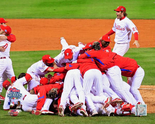 "Philadelphia Phillies 2008 World Series Celebration MLB Baseball 8"" x 10"" Photo"