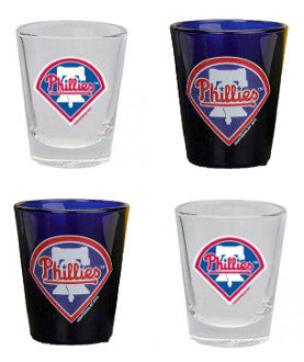 Philadelphia Phillies 4-Piece Shot Glass Gift Set - Dynasty Sports & Framing